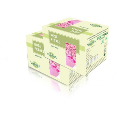 Buy beverages online india - Buy juices online - Vedantika Herbal Rose Petals Milk Shake (Combo Pack)