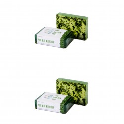 Nirvaana Handmade Natural Aloe Neem Soap, 100g (Pack of 2)
