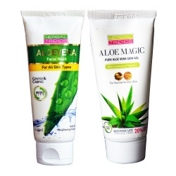 Pure Aloe Vera Skin Gel & face wash (Oily Skin) Combo