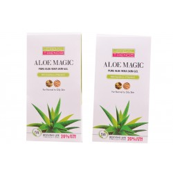Aloe Vera Skin Gel (with Vitamin-E.) (Pack Of 2