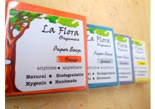 La Flora Organics Set Of 5 Paper Soap Packs