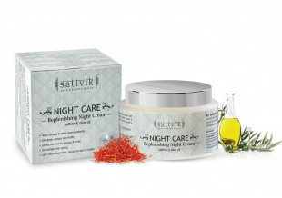 Night Care - Replenishing Night Cream, With Saffron & Olive Oil 100gm