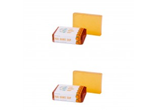 Nirvaana Handmade Natural Orange Soap, 100g (pack Of 2)