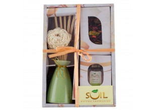 Soil Fragrances Reed Diffuser Gift Set Includes Fragrance Vaporizer, Reed Oil And Reed Sticks