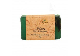 Soil Fragrances Handmade Ayurvedic Soap Neem With Chamomile