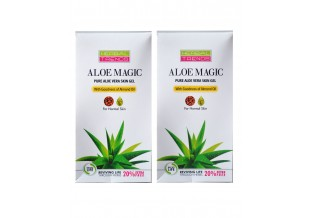 Pure Aloe Vera Skin Gel (with Almond Oil)             Pack Of 2