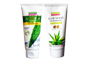 Pure Aloe Vera Skin Gel And Face Wash (oily Skin)                Combo