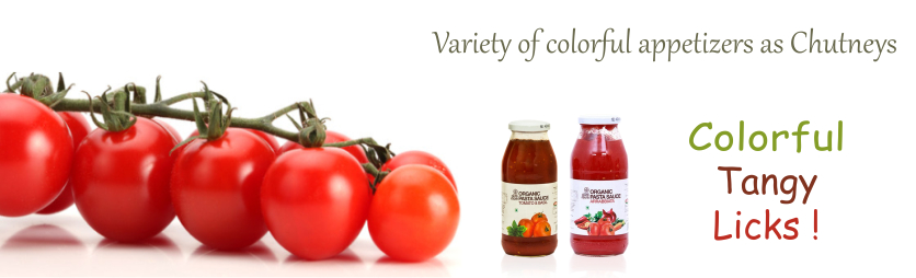 organic condiments, chutneys, ketchups, tangy flavour, side dish, tasty chutney and ketchups, we buy natural