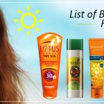 List of Best Sunscreens for Face