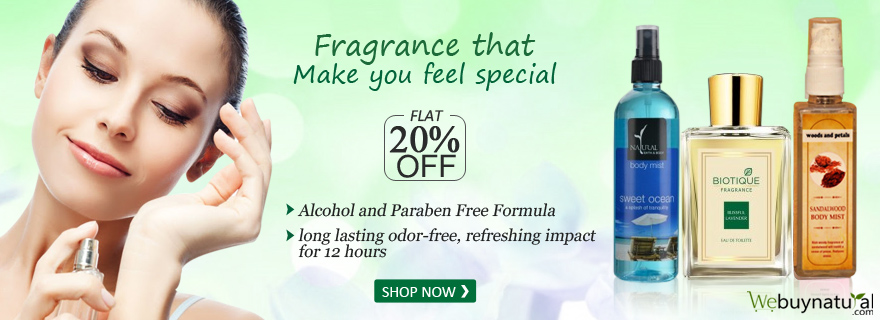 Flat 20% off On Alcohal Free Perfumes